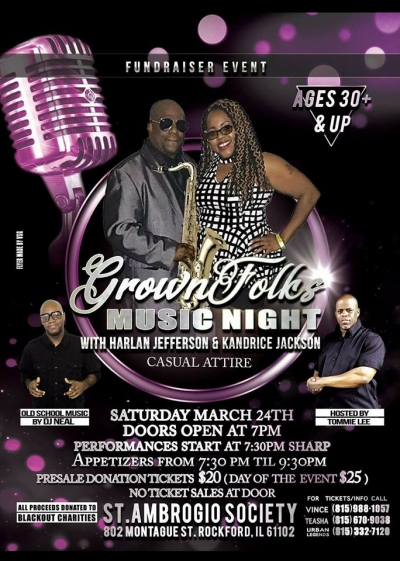 Grown Folks Music Night w/Harlan Jefferson & Kandrice Jackson